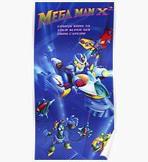 Mega Man X2 Nintendo Power Poster Fully Remastered Pixel by Pixel Poster
