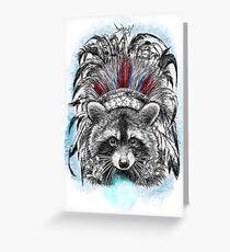 The shaman raccoon Greeting Card