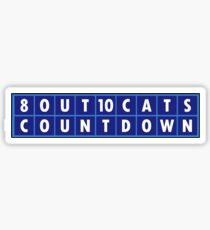 8 Out of 10 Cats Does Countdown Sticker