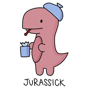 Ilustración 'Jurassick' de bloemsgallery
