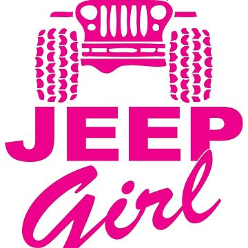 Jeep Girl Pink by SixtyOneDesign