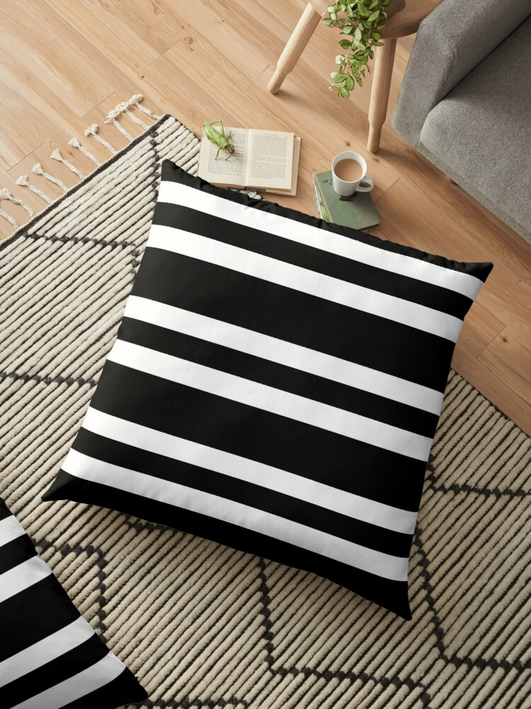 Black and white stripe pattern by HEVIFineart