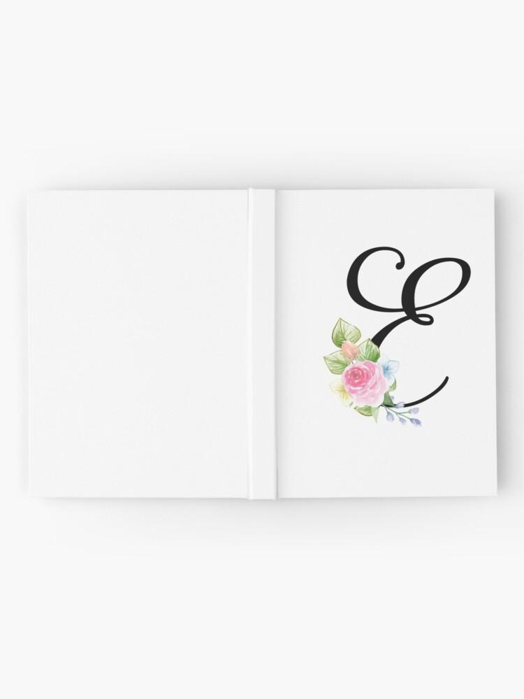 Alternate view of Floral Monogram Fancy Script Letter E Hardcover Journal