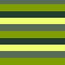 Green stripe monochromatic color block stripe pattern by HEVIFineart