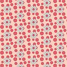 Happy Daisies with Red Polka Dots by Melissa Escobar