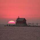 Sunset Over Grand Haven Lighthouse by btmucci
