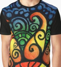 Colorful Rising Summer Sun Graphic T-Shirt