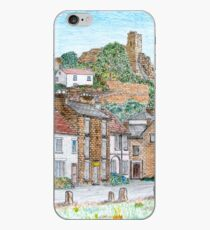 Graphite and Coloured Pencil Drawing of  Richmond, Yorkshire  iPhone Case
