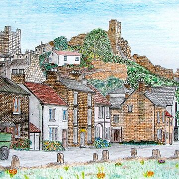 Graphite and Coloured Pencil Drawing of  Richmond, Yorkshire 1071 by ZipaC