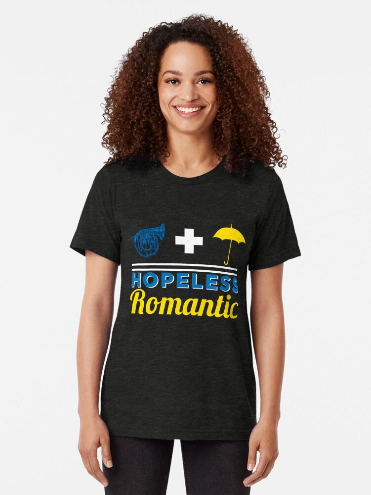 Vista alternativa de Camiseta de tejido mixto Romántico empedernido