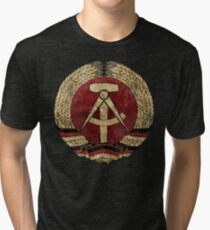 DDR Vintage Shield V02 Tri-blend T-Shirt