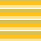 Yellow monochromatic color block stripe pattern by HEVIFineart