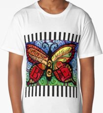 Spread Your Wings Inspirational Butterfly Long T-Shirt