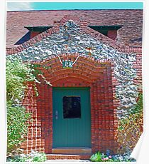 Cottage door, Sacramento bricks, mining_inlays Poster