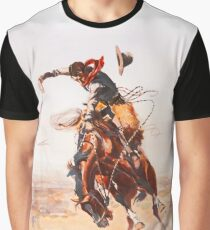 Wild West Series Bad Horse Graphic T-Shirt
