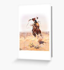Wild West Series Bad Horse Greeting Card