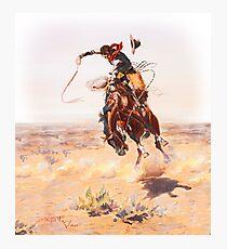 Wild West Series Bad Horse Photographic Print