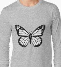 Black and white butterfly. Long Sleeve T-Shirt