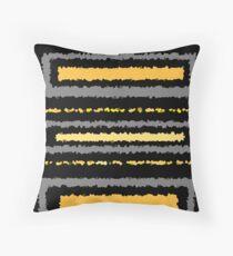 Black ochre yellow gold gray abstract geometric pattern     Throw Pillow