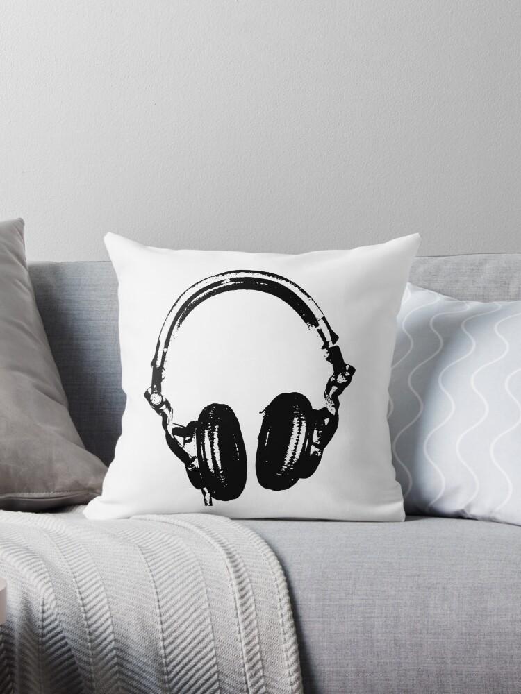 DJ Kopfhörer Schablone Stil von humanwurm