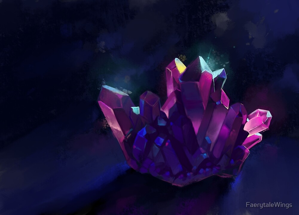 Crystal Cluster by FaerytaleWings