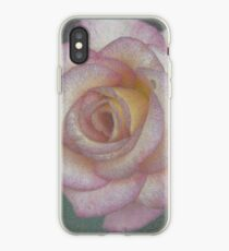 Single Pink Rose iPhone Case