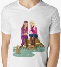 Fashion Girls Men's V-Neck T-Shirt