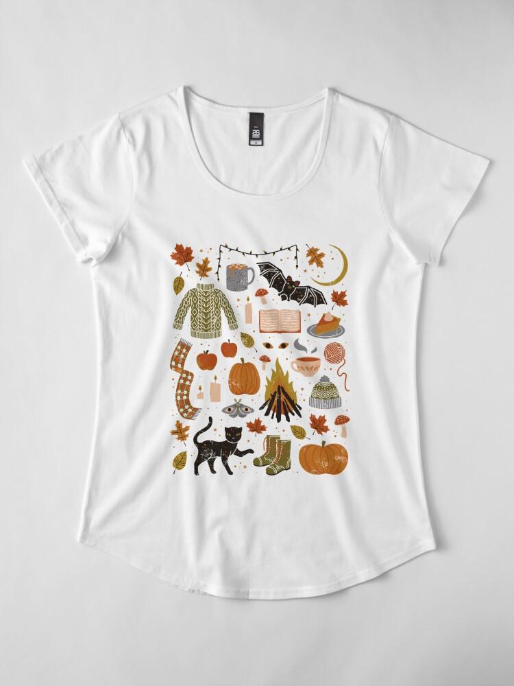 Alternate view of Autumn Nights Premium Scoop T-Shirt