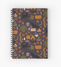 Autumn Nights Spiral Notebook