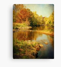 Fall Time at Rum River Canvas Print