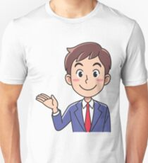Business man inviting. T-Shirt