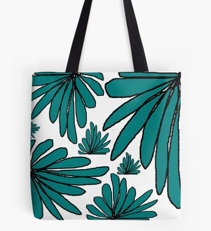 Green fern floral abstract Tote Bag