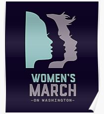 Women's March 2017 On Washington Poster