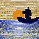 Sailing at Sunset by Deborah Dillehay
