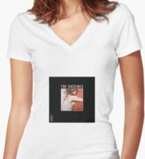 'What did you expect from the Vaccines?' Women's Fitted V-Neck T-Shirt