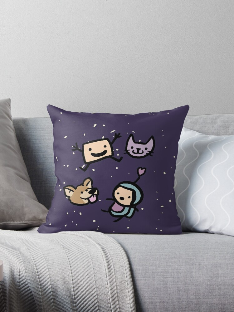 Quot Space Quot Throw Pillows By Clunse Redbubble