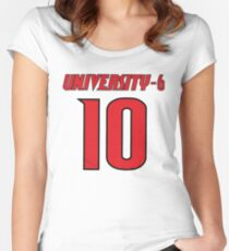 University-6 Player 10 Louisville NCAA Scandal Women's Fitted Scoop T-Shirt