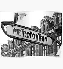 Le Metro - Paris  Poster