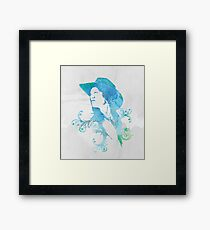 Wild West Series Watercolor Cowgirl Framed Print