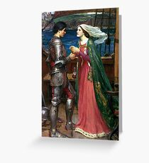 Tristan and Isolde with the Potion by John William Waterhouse Greeting Card