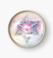 STAR OF DAVID-2- bless and protect- Art + Products Design  Clock
