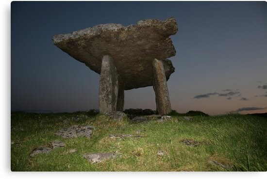 Poulnabrone Dolmen at night by John Quinn
