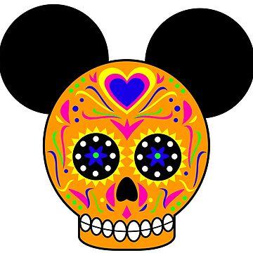 Dia De Los Muertos Ears (Orange) by Infernoman