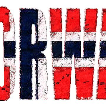 Norway Font #1 with Norwegian Flag by Havocgirl