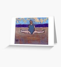 Yoga on the beach Greeting Card