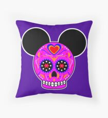 Dia De Los Muertos Ears (Pink) Throw Pillow