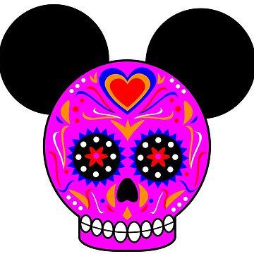 Dia De Los Muertos Ears (Pink) by Infernoman