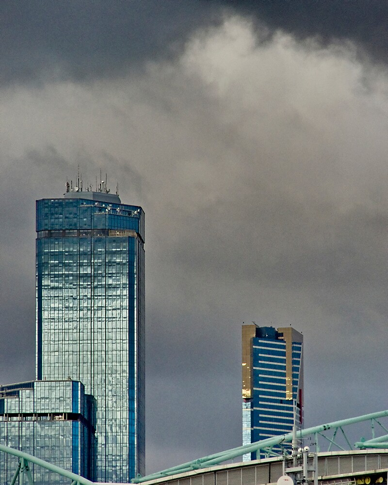 Storm brewing over city by Sadandal