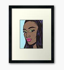 Black Fashion Model Comic Girl Framed Print