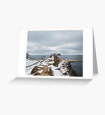 Mountain in the North of Norway Greeting Card